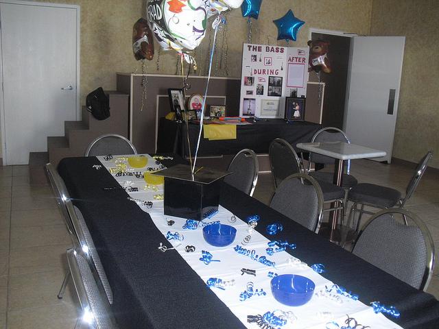Cómo decorar las mesas de graduación